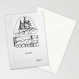 typodont. Stationery Cards