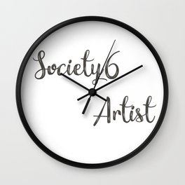 Society6 Artist Font II Wall Clock
