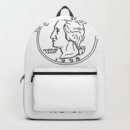 United States Dollar Coin Spinning Drawing Backpack