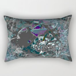 Forest first frost floral camouflage Rectangular Pillow