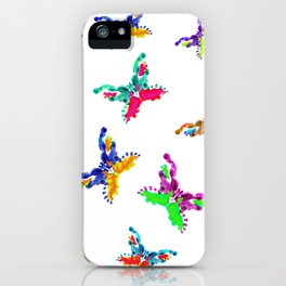 Multicolored Butterflies iPhone Case
