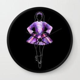 Irish Dancer Purple Wall Clock