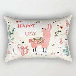 Hapy Lama Rectangular Pillow