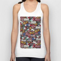 country Tank Tops featuring country plates by Eduardo Doreni