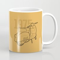 1975 Mugs featuring Vespa Ts 1975 by usbe