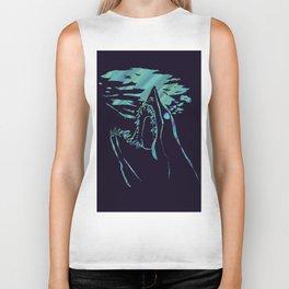 blue mako shark Biker Tank