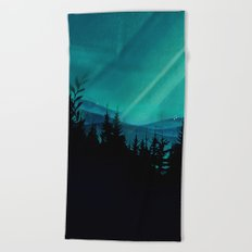 Magic in the Woods - Turquoise Beach Towel