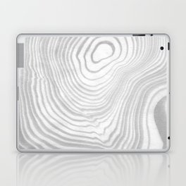 Sanyu - spilled ink abstract marble minimal topography black and white grey art Laptop & iPad Skin