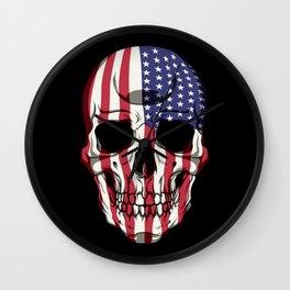 Patriotic Skull - United States Flag - USA Patriot Wall Clock