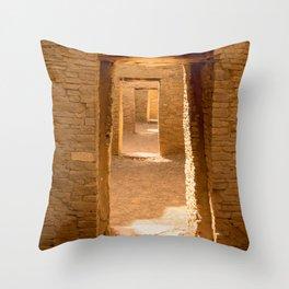 Chaco Ancient Doors Throw Pillow