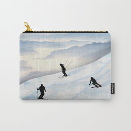 Skiing in Infinity Carry-All Pouch