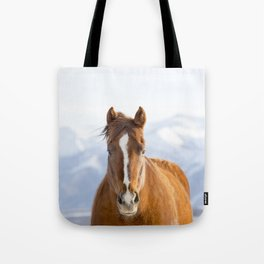 Beautiful Mountain Horse Tote Bag