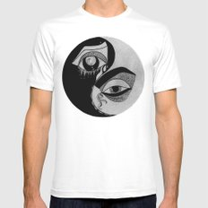 yin yang White Mens Fitted Tee MEDIUM