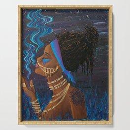 Rök ~ Goddess of Smoke & Stars Serving Tray