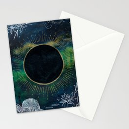 New Moon Original Mixed Media Painting Stationery Cards