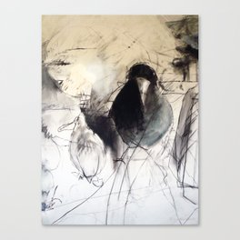 Silly Bird Canvas Print