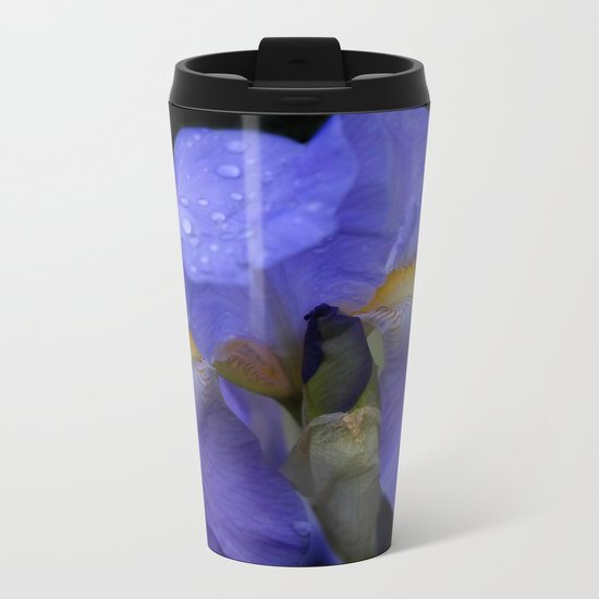 the colors of summer - blue iris Metal Travel Mug