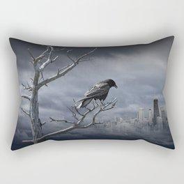 Observing the City Below Rectangular Pillow