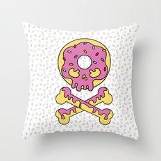 Deathly Delicious Doughnut Throw Pillow