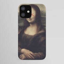 Mona Lisa x Kaws Collab Pop Art iPhone Case