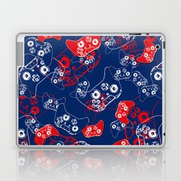 Video Game Red White & Blue 2 Laptop & iPad Skin