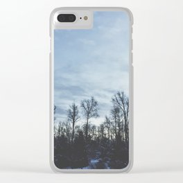 Wintery Hue Clear iPhone Case