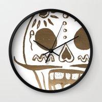 ed sheeran Wall Clocks featuring Ed by Ce Cruz