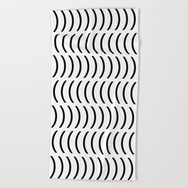Smiley Small B&W Beach Towel