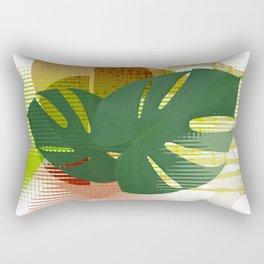 Monstera MCM Abstract Rectangular Pillow