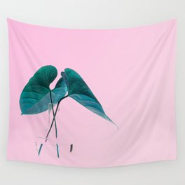 Pink Plant Wall Tapestry