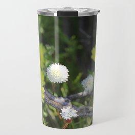 Yellow and White Desert Wildflowers of California by Reay of Light Travel Mug