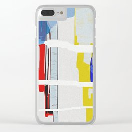 Shattered Waveform Clear iPhone Case
