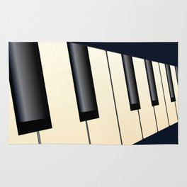 Piano Keys Perspective Rug