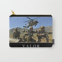 Valor: Inspirational Quote and Motivational Poster Carry-All Pouch