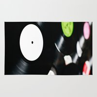 records Area & Throw Rugs featuring Vinyl records. by vuuduu