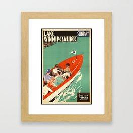 Lake Winnipesaukee - Vintage Poster Framed Art Print