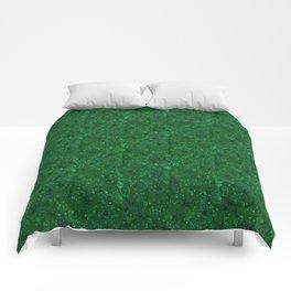 Green shiny confetti Comforters