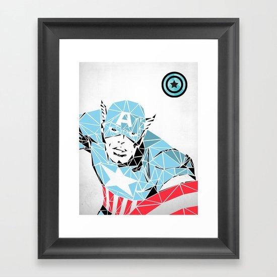 Captain America  Framed Art Print