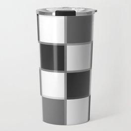 Slate & Gray Checkers / Checkerboard Travel Mug