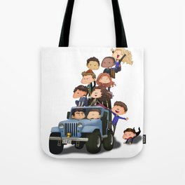 Puppy Pile Tote Bag