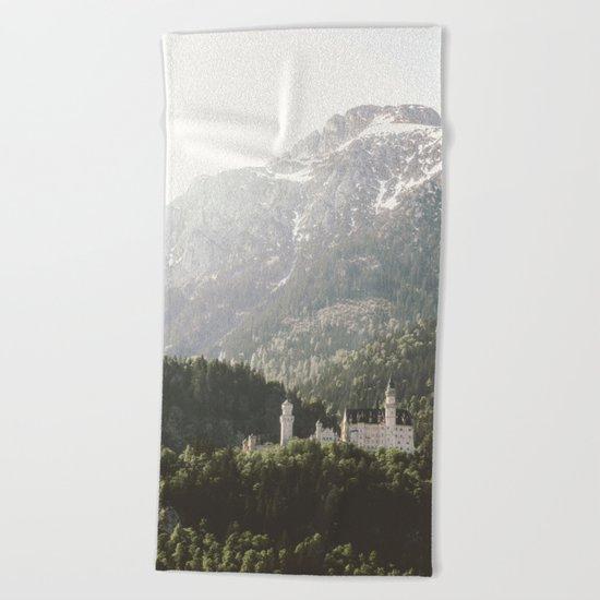 Neuschwanstein Fairytales - Landscape Photography Beach Towel
