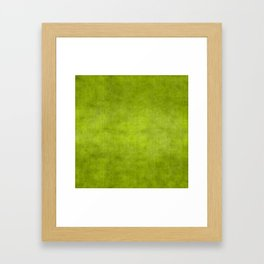 """Summer Fresh Green Garden Burlap Texture"" Framed Art Print"