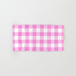 Pink Buffalo Check - more colors Hand & Bath Towel