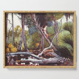 In The Jungle Florida 1904 By WinslowHomer | Reproduction Serving Tray