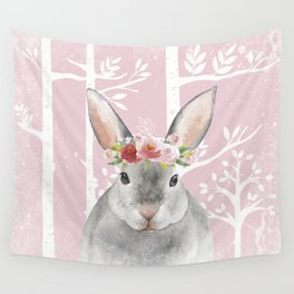 Animals in Forest - The little Bunny Wall Tapestry