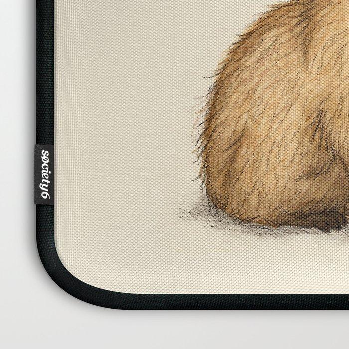 Capy Hanukkah - Capybara and Menorah Laptop Sleeve