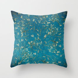 Vintage & Shabby Chic - Vincent Van Gogh - Almond Blossoms Pattern Throw Pillow