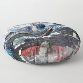 Trapani art 5 Floor Pillow