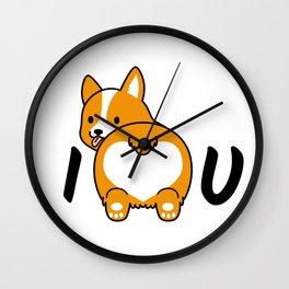 I love corgis and you Wall Clock
