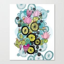Bicycle Birds Canvas Print